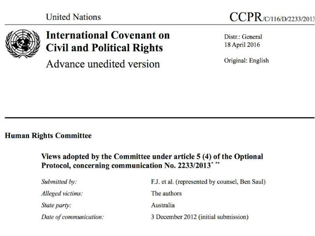 VIEWS ADOPTED BY THE COMMITTEE UNDER ARTICLE 5 (4) OF THE OPTIONAL PROTOCOL